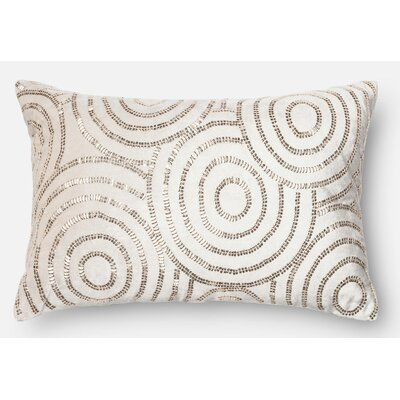 Lumbar Pillow Color: Beige/Silver
