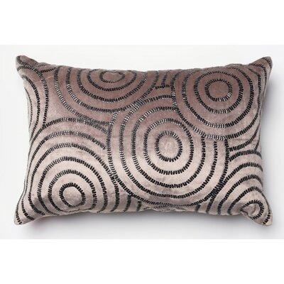 Novack Velvet Lumbar Pillow Color: Chorcoal/Black