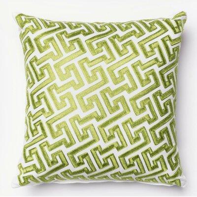 100% Cotton Pillow Cover Color: Green