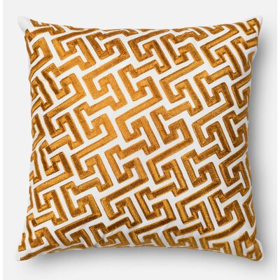 100% Cotton Pillow Cover Color: Gold
