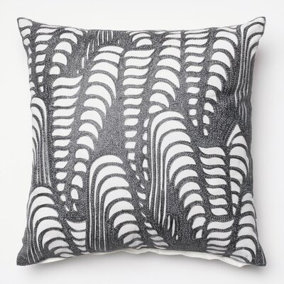 100% Cotton Pillow Cover Color: Silver