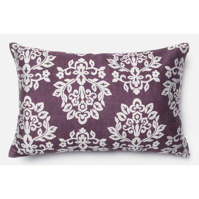 Accrington Silk Lumbar Pillow Color: Plum/Silver