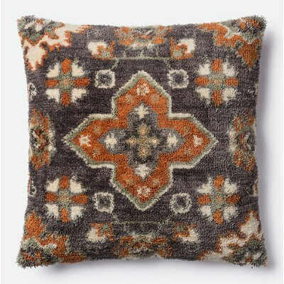 Throw Pillow Color: Brown/Multi