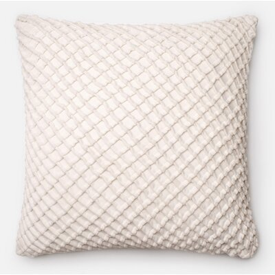 100% Cotton Throw Pillow Color: White