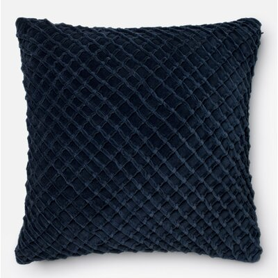 100% Cotton Throw Pillow Color: Navy