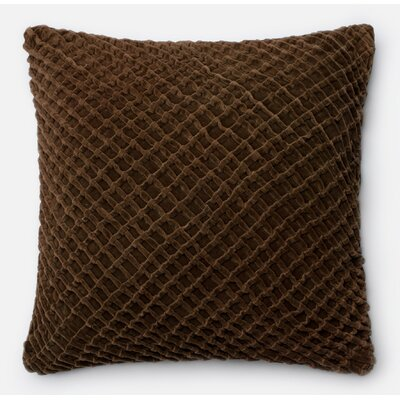 100% Cotton Throw Pillow Color: Brown