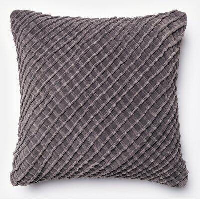 100% Cotton Throw Pillow Color: Chorcoal