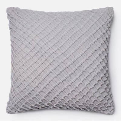 100% Cotton Throw Pillow Color: Gray
