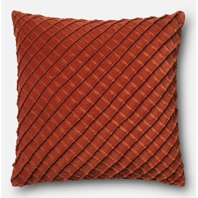 Velvet Throw Pillow Color: Rust