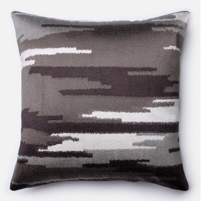 Cotton Throw Pillow Color: Chorcoal/Gray