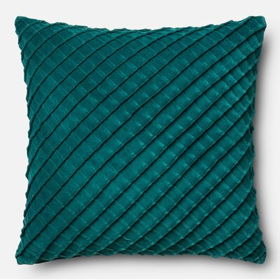 100% Cotton Throw Pillow Color: Teal