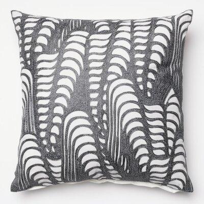 100% Cotton Throw Pillow Color: Silver