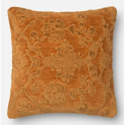 Pillow Cover Size: 18 H x 18 W x 0.25 D, Color: Amber