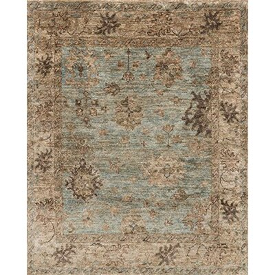 Libby Hand-Knotted Blue/Brown Area Rug Rug Size: Rectangle 2' x 3' EMPREU-06LBNA2030