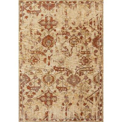 Izmir Tan/Spice Area Rug Rug Size: 53 x 76