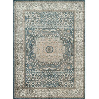 Adelbert Blue/Sand Area Rug Rug Size: Rectangle 9'6