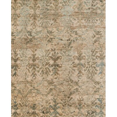 Xavier Hand-Knotted Beige Area Rug Rug Size: Rectangle 96 x 136