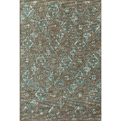 Izmir Taupe/Aqua Area Rug Rug Size: Rectangle 28 x 12