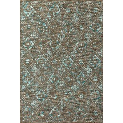 Izmir Taupe/Aqua Area Rug Rug Size: Rectangle 28 x 4