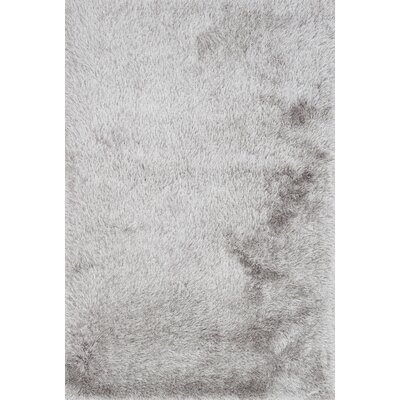 Siipola Shag Hand-Tufted Silver Area Rug Rug Size: Rectangle 36 x 56