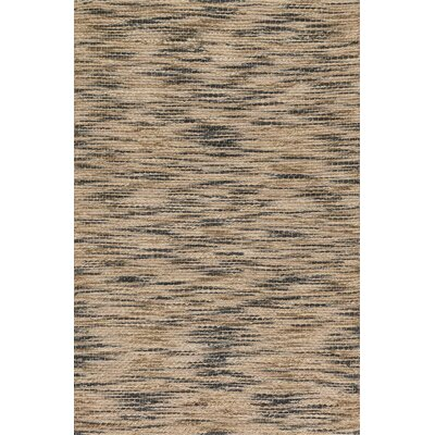 Carrick Hand-Woven Brown/Black Area Rug Rug Size: 36 x 56