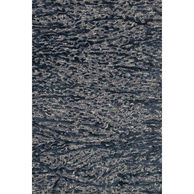 Juneau Hand-Hooked Blue Area Rug Rug Size: Rectangle 79 x 99