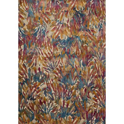 Dreamscape Orange/Blue Area Rug Rug Size: Rectangle 5 x 76