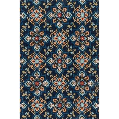 Francesca Blue/Beige Area Rug Rug Size: 76 x 96