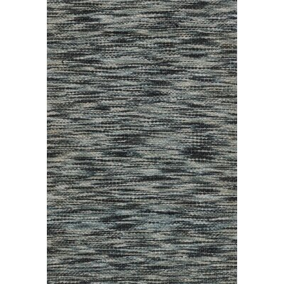 Turcios Hand-Woven Black/Gray Area Rug Rug Size: Rectangle 36 x 56