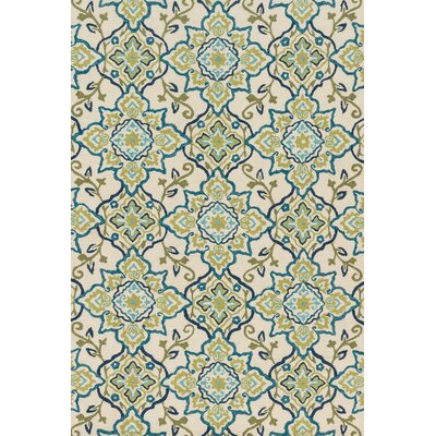 Kips Bay Hand-Hooked Green/Blue Area Rug Rug Size: Rectangle 5 x 76