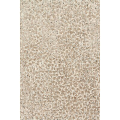 Juneau Hand-Hooked Beige Area Rug Rug Size: Rectangle 5 x 76
