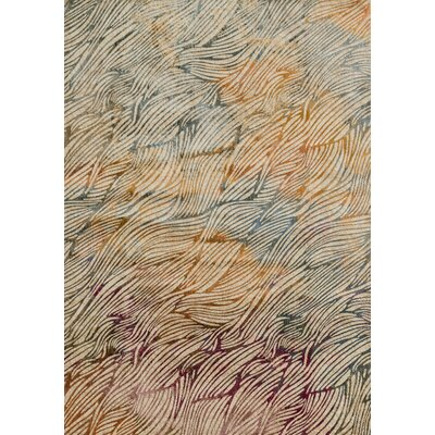 Dangelo Orange/Gray Area Rug Rug Size: Rectangle 5 x 76