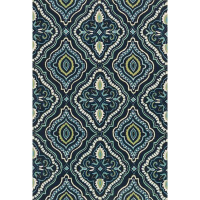 Kips Bay Blue Area Rug Rug Size: Rectangle 76 x 96