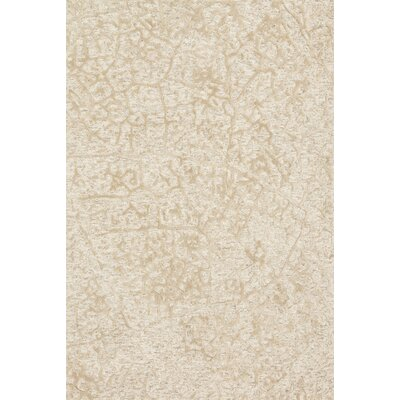 Juneau Hand-Hooked Beige Area Rug Rug Size: Rectangle 79 x 99