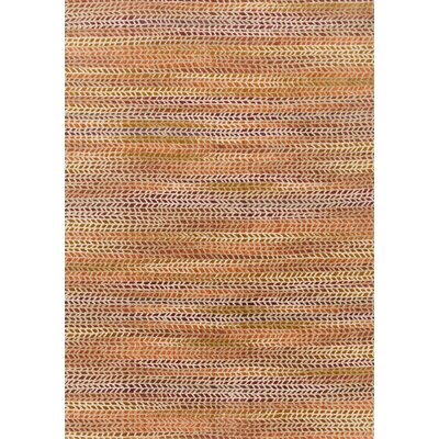 Dreamscape Orange Area Rug Rug Size: 67 x 92