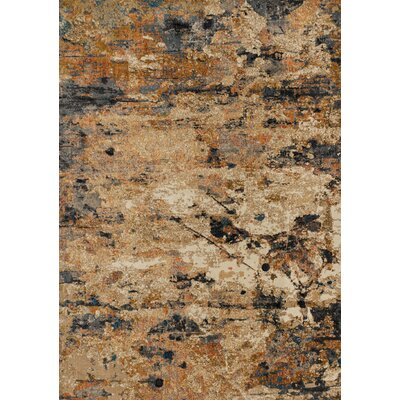 Dangelo Orange/Gray Area Rug Rug Size: Rectangle 92 x 13