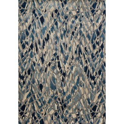 Dangelo Blue/Beige Area Rug Rug Size: Rectangle 92 x 13