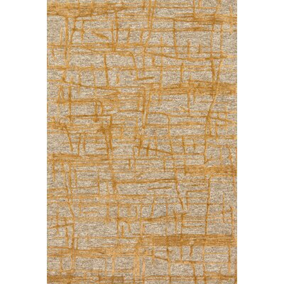 Juneau Hand-Hooked Gold/Beige Area Rug Rug Size: Rectangle 5 x 76