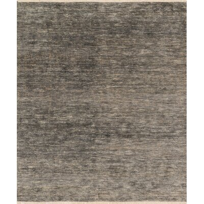 Quinn Hand-Knotted Gray Area Rug Rug Size: Rectangle 56 x 86