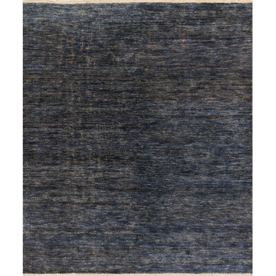 Quinn Hand-Knotted Blue Area Rug Rug Size: Rectangle 79 x 99
