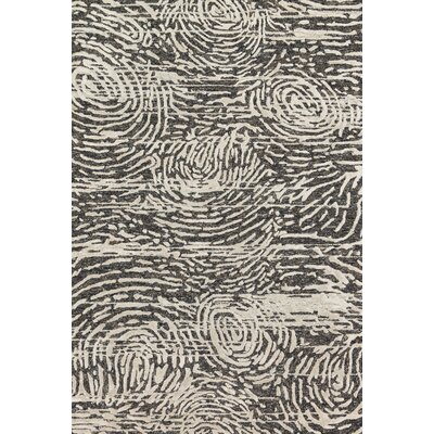 Juneau Hand-Tufted Black/Silver Area Rug Rug Size: Rectangle 5 x 76