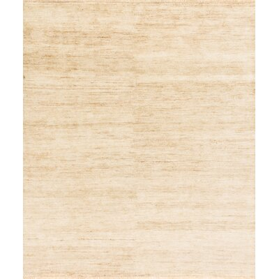 Quinn Hand-Knotted Beige Area Rug Rug Size: Rectangle 79 x 99