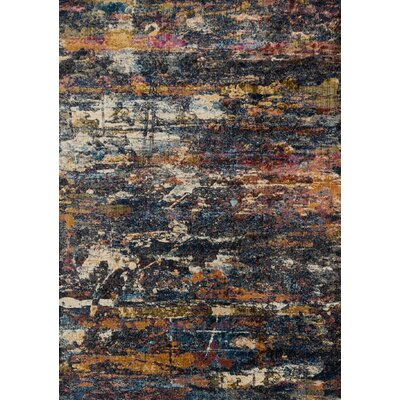 Dreamscape Orange/Black Area Rug Rug Size: 710 x 11