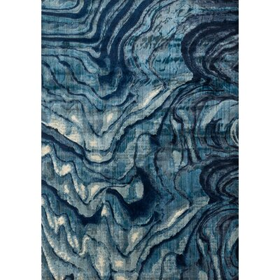 Imes Gray/Blue Area Rug Rug Size: Rectangle 6'7