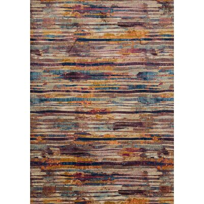 Dreamscape Red/Brown Area Rug Rug Size: 5 x 76