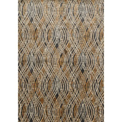 Dangelo Gray/Gold Area Rug Rug Size: Rectangle 67 x 92