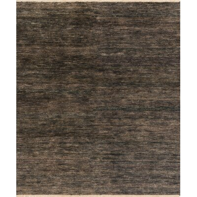 Quinn Hand-Knotted Brown Area Rug Rug Size: 56 x 86