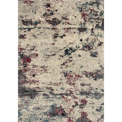 Dreamscape Beige/Red Area Rug Rug Size: 67 x 92