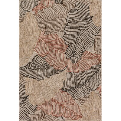 Newport Beige Indoor/Outdoor Area Rug Rug Size: Rectangle 22 x 39