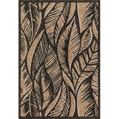 Newport Charcoal/Sand Indoor/Outdoor Area Rug Rug Size: 22 x 39